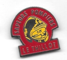 Pin's  Ville, Sport, Sapeurs  Pompiers  De  LE  THILLOT  ( 88 ) - Feuerwehr