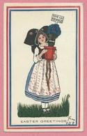 HANSI - JJ WALTZ - Easter Greetings - Carte Envoyée Des USA - NEW YORK En 1917 - Alsacienne - Vive La France - Hansi