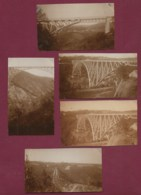 030420B - 5 PHOTOS 1928 - 81 VIADUC DE TANUS SUR LE VIAUR - Frankrijk