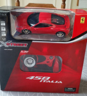 X Street Ferrari 458 Italia Radiografisch Bestuurbare Auto Schaal 1:32 - Rood - Scale 1:32