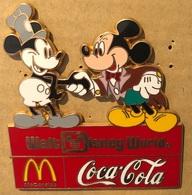 PREMIER ET DERNIER  MICKEY MOUSE - SOURIS - MAUS - WALT DISNEY WORLD - COCA COLA  - MC DONALD'S -            (22) - Disney