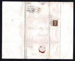 GB SCOTLAND LEITH SHETLAND PENNY RED MALTESE CROSS 1842 SHIPPING - 1840-1901 (Regina Victoria)
