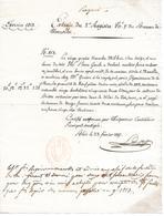 MAROLLES ( 41 ) - Paiement Des Droits De Transport De Vin Noir De 1813 - France
