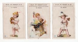 Chromo  SAINT REMY  Au Mans    Lot De 3    Enfants, Instruments De Musique, Forgeron    11.1 X 7.1 Cm - Andere