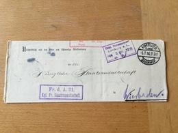 FL2845 Deutsches Reich 1916 Frei Lt. Avers Von Limburg Nach Wiesbaden - Deutschland