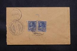 SIAM - Enveloppe En Recommandé De Bangkok Pour L'Inde ( Surat ) En 1928, Affranchissement Plaisant - L 57282 - Siam