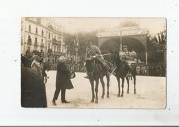 MONTPELLIER (HERAULT) CARTE PHOTO VISITE DU PRESIDENT MILLERAND 5 6 7 /11/1921 (MILITAIRES CIVILS PANCARTE DES VIGNERONS - Montpellier