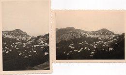 """FO-00301- 2 FOTO ORIGINALI """" VEDUTE DI CAPRI 1957 """" - Luoghi"""