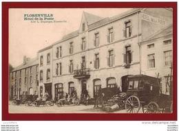 Florenville - Hôtel De La Poste - Malle-poste - Automobiles - Vue Animée - L.Duparque - 2 Scans - Florenville