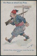 "1919 ""Johnnie Turk, Whose German Master Has Let Him Down"" Comic L. Raven Hill Postcard. Bulgaria Surrender, Baghdad - 1902-1951 (Re)"