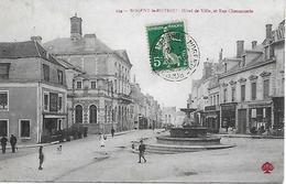 NOGENT- LE- ROTROU -  1912 -  HOTEL DE VILLE ET RUE CHARONNERIE - Nogent Le Rotrou