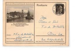 DR Ganzsache Postkarte BPK Bildpostkarte BPK - P304 Memel / Klaipėda Ostsee - O München 1941 - Deutschland
