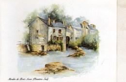 Petit Calendrier De Poche  1989 Moulin De Pont Aven Finistere - Petit Format : 1981-90