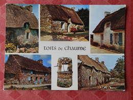 Dep 35 , Cpm  TOITS De CHAUME , C 315 , La BRETAGNE Pittoresque , Chaumières , écrite à GOVEN , Multivues   (139) - Andere Gemeenten