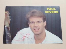 PAUL SEVERS ( Zie Foto Voor Details ) ! - Autographs