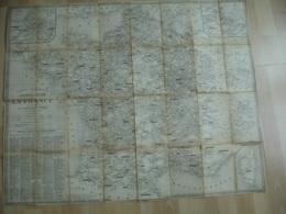 Ancienne Carte Toilee Resau Chemin De Fer Chaix  Point De Transit Corse - Cartes