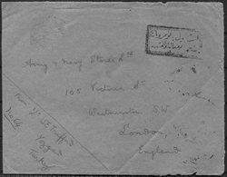 WW1 Turkey / GB British Prisoner Of War Censor Cover Yozgat - London England. 2nd Lt. W.E. Trafford RFA Yozgad Kut POW - 1858-1921 Ottomaanse Rijk