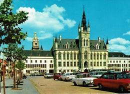 SINT NIKLAAS-WAAS -STADHUIS-automobiles-TIMBRE TAXE AU VERSO - Sint-Niklaas