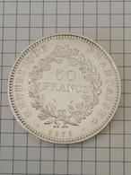 50 Francs 1979 - HERCULE - DUPRÉ - En Argent - M. 50 Francs