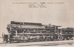 AK Les Locomotives Francaises Nord Locomotive Machine No 5106 Décapod Chemin De Fer Train - Eisenbahnen