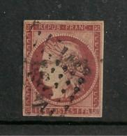 FRANCE / N° 6 CERES 1f CARMIN OBLITERATION GRILLE DE POINT PETIT CHIFFRE NON LISIBLE - 1849-1850 Ceres