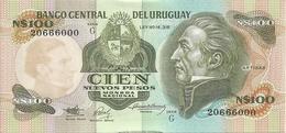 URUGUAY 100 NUEVOS PESOS ND1987 AUNC P 62A - Uruguay
