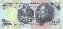 URUGUAY 50 NUEVOS PESOS ND1989 UNC P 61A - Uruguay