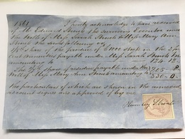 GB Victoria Receipt 1861 With One Penny Fiscal - 1840-1901 (Victoria)