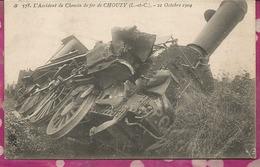 D41 - 2 CPA - L'Accident De Chemin De Fer De CHOUZY  21 Octobre 1904 - France