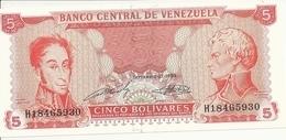 VENEZUELA 5 BOLIVARES 1989 UNC P 70 - Venezuela