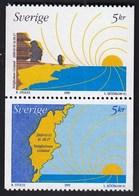 Sweden 1999 / New Millenium, Map, Sun / MNH / Mi 2152-2153 - Suède