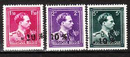 724N/P**  Leopold III Col Ouvert Surchargé -10% - AVELGEM - Série Complète - MNH** - LOOK!!!! - 1946 -10%