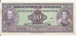 VENEZUELA 10 BOLIVARES 1976 XF P 51 E - Venezuela