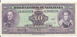 VENEZUELA 10 BOLIVARES 1976 VF+ P 51 E - Venezuela
