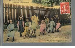 CPA Enfants () La Vie Aux Champs L'enterrement D'un Petit Oiseau De 1908 - Scènes & Paysages