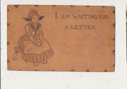 CARTE EN CUIR I AM WAITING FOR A LETTER SAINT JOSEPH CPA BON ETAT - Cartes Postales