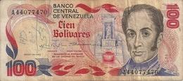 VENEZUELA 100 BOLIVARES 1980 VF P 59 - Venezuela
