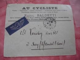 Au Cycliste Velo Vente Reparation Raoul Baldetti Bone Algerie Francaise Enveloppe Commerciale - 1900 – 1949