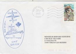 CMT ORION Mission Unified Spirit Brest Armées 22/4/2003 - Storia Postale