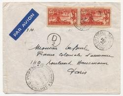 Cote D'Ivoire - Env Grand Bassam 1940 Avec Censure Contrôle Postal Commission D - Storia Postale