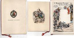 Livret (8 Pages) Du 1° Régiment Etranger De Cavalerie - Illustrations De P. Henigni Et G. Henrique (Divers 61) - Historical Documents