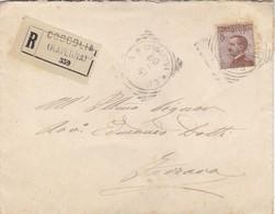 Da Coccolia A Ferrara  - Raccomandata Cent. 40 Michetti - 1900-44 Victor Emmanuel III
