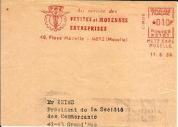 Lettre  EMA Secap N 1959 PME Au Service Petites Moyenne Entreprises 57 Metz  C15/04 - EMA (Empreintes Machines à Affranchir)