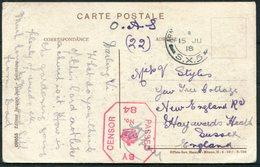 1918 Salonica Church Postcard, General Hospital 29 Censor, O.A.S. Army Post Office S.X.5 - Haywards Heath, Sussex. - 1902-1951 (Re)