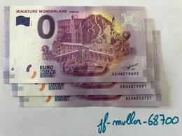 XEHA 2018-4 / MINIATURE WUNDERLAND HAMBURG / BILLET SOUVENIR 0 € / 0-EURO-SCHEINE - EURO