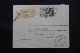 ALGÉRIE - Oblitération 5 Alger RP Sur Enveloppe En Recommandé Pour Etat Major De L 'Armée Air à Saïgon En 1952 - L 57300 - Covers & Documents