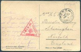 1917 Greece Postcard - Beeston Priory, Sheringham Norfolk. O.A.S. Army Post Office S.X.4. Kalamaria, Salonica Censor - 1902-1951 (Re)