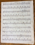 SPARTITO MUSICALE VINTAGE MANOSCRITTO Di Anonimo  : NOCTURNE ....A Rose....lento Sostenuto.... - Altri