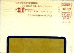Lettre  EMA Secap N 1957 Laboratoires Du Bois De Boulogne Puteaux  C15/10 - EMA (Printer Machine)