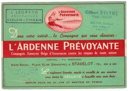BUVARD - L' ARDENNE PREVOYANTE à STAVELOT *bureaux : BACLAIN - CHERAIN - GOUVY* - Textile & Vestimentaire